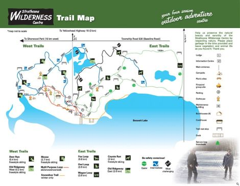 Stathcona Wilderness Centre trailmap