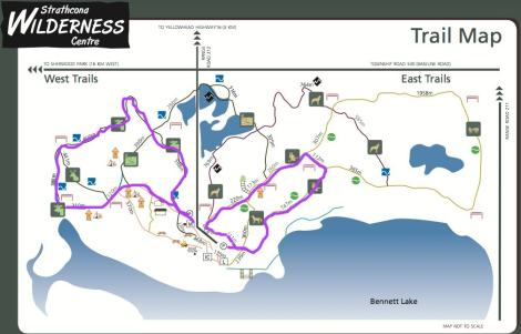Stathcona Wilderness Centre Trail Map